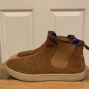 UGG camel suede slip on sneaker Boots/ Hi Tops 7